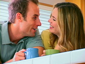 Couple in Kitchen Stock Footage
