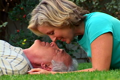 Mature Couple Relaxing - stock footage