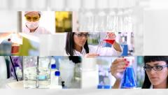 Laboratory Work - Montage - stock footage