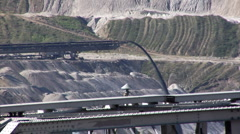 Tagebau Aldenhoven: stacker in a lignite mine Stock Footage