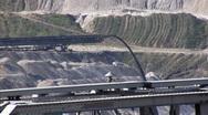 Stock Video Footage of Tagebau Aldenhoven: stacker in a lignite mine
