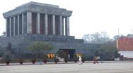 Stock Video Footage of Ho Chi Minh Mausoleum in Hanoi, Vietnam, Vietnamese Memorial, Ba Dinh Square
