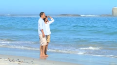Young couple looking into the distance Stock Footage