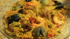 Paella Dish Eaten Time Lapse (HD) - stock footage