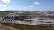 Stock Video Footage of Tagebau Aldenhoven: scenic view of the huge lignite mine
