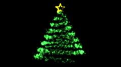 Flowing Light Christmas Tree  (HD) Stock Footage