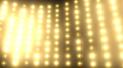 Wall of lights - stock footage