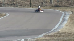 Racer on go-kart competition Stock Footage