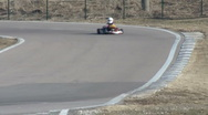 Stock Video Footage of racer on go-kart competition