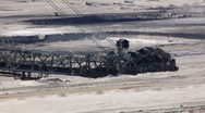 Stock Video Footage of Tagebau Aldenhoven: bucket-wheel excavator in a lignite mine