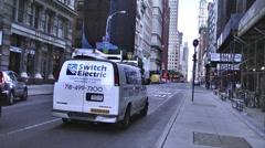 Lower Manhattan Street Stock Footage