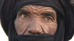 Tuareg man Stock Footage