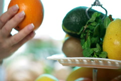 Holding fresh fruits - stock footage