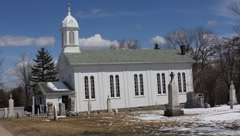 Country Church Wide - stock footage