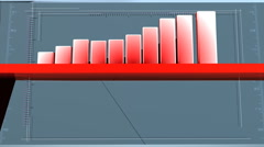 Red-grey bar charts Stock Footage