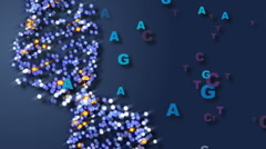 DNA with Letters Representing Base Pairs Stock Footage