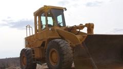 Bucket Loader Excavator Stock Footage