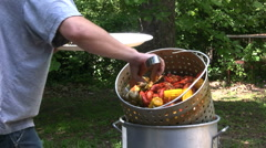 Boiled crawfish 3 Stock Footage