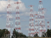 Short wave radio antenna array Stock Footage