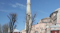 Hagia sofia church istanbul turkey Stock Footage