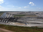 Tagebau Aldenhoven: scenic view of the huge lignite mine Stock Footage