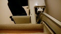 Stair Lift Chair Close Up (HD) Stock Footage