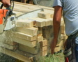 Chainsaw Cutting Lumber Footage