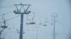 heavy snow on ski resort - stock footage