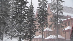 Heavy snow Stock Footage