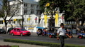 Bustling Street Of Bangkok, Thailand, Thanon Na Phra Lan, Colorful Cars, Hot Day Footage