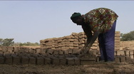Stock Video Footage of Making mud bricks