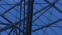 Radio-telescope-zoom1 Stock Footage