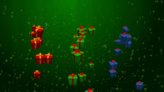 Presents with green background Stock Footage