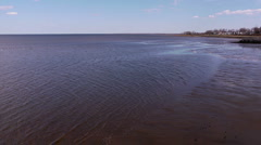 Raritan Bay Low Tide 2 Stock Footage