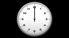 Stock Video Footage of Simple Clock