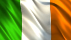Flag of Ireland Stock Footage