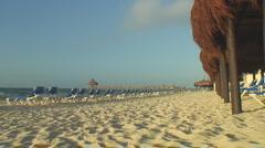 Empty resort beach Stock Footage