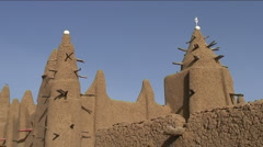 Sudanese mud architecture Stock Footage
