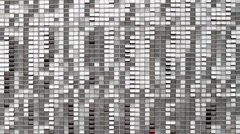 Wide Shot Abstract Geometric Grid Pattern Loop Stock Footage