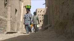 Street in Djenné Stock Footage