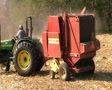 Round Baler in Action Footage