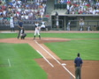 Baseball Out At First Base 04 SD Footage