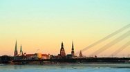 Stock Video Footage of Riga capital of Latvia in wintwer
