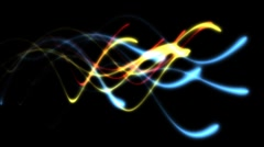 Colorful Light Streaks (HD) - stock footage