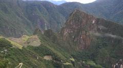 Machu Picchu Dolly Shot Stock Footage