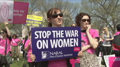 Planned Parenthood supporters - stock footage