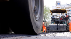 Road roller Stock Footage