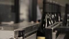 Wine Bottle Conveyor Closeup 6514 Stock Footage