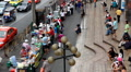 Bustling Street Of Bangkok, Thailand, Thanon Phetchaburi, Market Street Food HD Footage