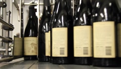 Wine Bottles ready for packaging 6564 Stock Footage